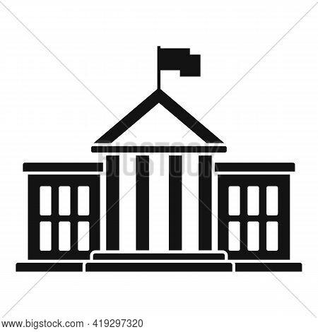 European Union Parliament Icon. Simple Illustration Of European Union Parliament Vector Icon For Web