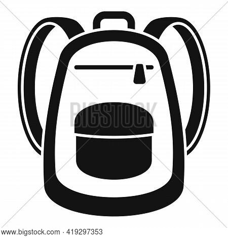 Immigrant Backpack Icon. Simple Illustration Of Immigrant Backpack Vector Icon For Web Design Isolat
