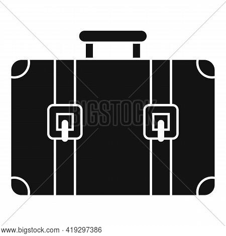 Immigrants Suitcase Icon. Simple Illustration Of Immigrants Suitcase Vector Icon For Web Design Isol