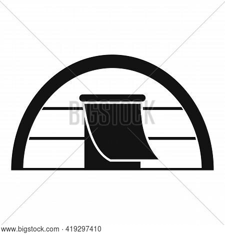 Immigrants Tent Icon. Simple Illustration Of Immigrants Tent Vector Icon For Web Design Isolated On