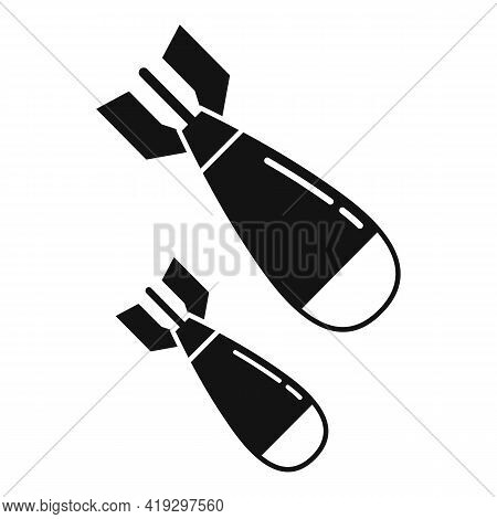 War Bombs Icon. Simple Illustration Of War Bombs Vector Icon For Web Design Isolated On White Backgr