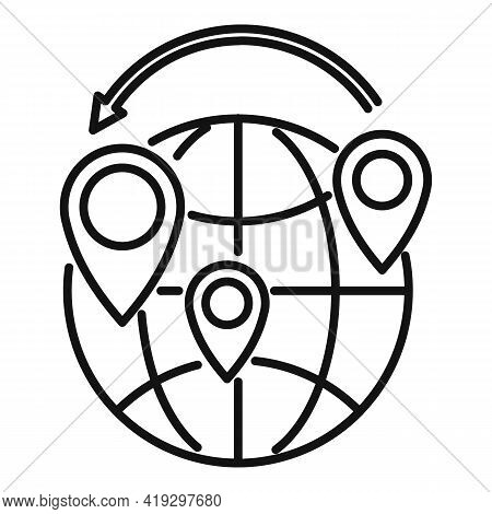Global Illegal Immigrants Icon. Outline Global Illegal Immigrants Vector Icon For Web Design Isolate