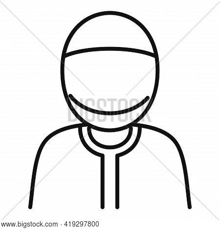 Muslim Immigrant Icon. Outline Muslim Immigrant Vector Icon For Web Design Isolated On White Backgro