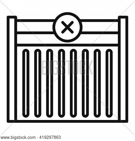 Border Gate Icon. Outline Border Gate Vector Icon For Web Design Isolated On White Background