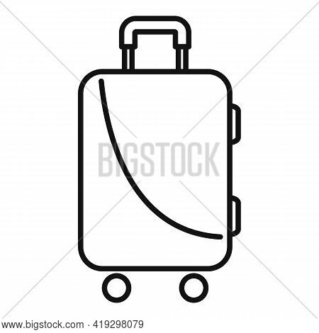 Immigrants Travel Bag Icon. Outline Immigrants Travel Bag Vector Icon For Web Design Isolated On Whi