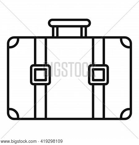 Immigrants Suitcase Icon. Outline Immigrants Suitcase Vector Icon For Web Design Isolated On White B