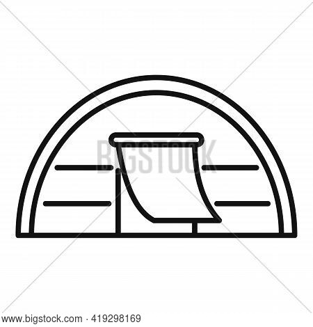 Immigrants Tent Icon. Outline Immigrants Tent Vector Icon For Web Design Isolated On White Backgroun