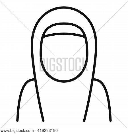 Immigrant Woman Icon. Outline Immigrant Woman Vector Icon For Web Design Isolated On White Backgroun
