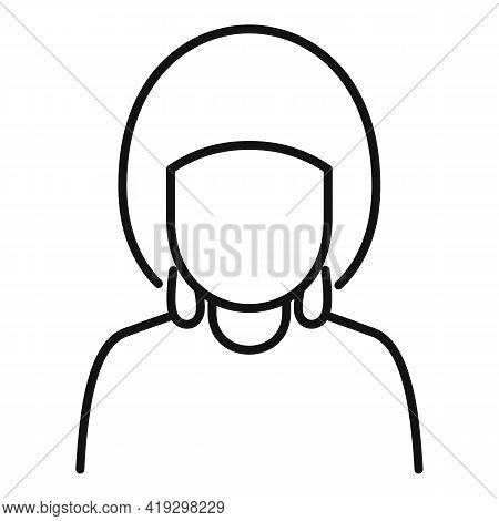 African Woman Immigrant Icon. Outline African Woman Immigrant Vector Icon For Web Design Isolated On