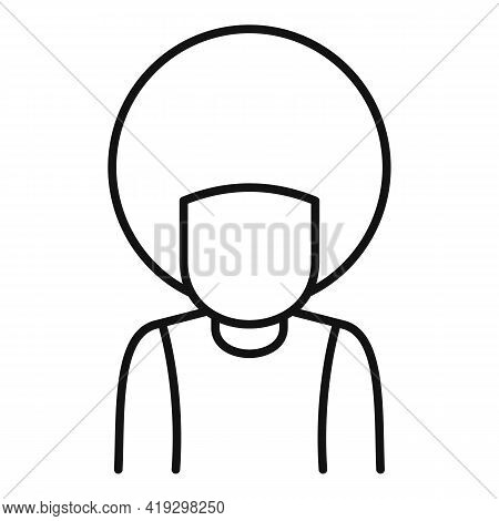 Afro American Immigrant Icon. Outline Afro American Immigrant Vector Icon For Web Design Isolated On