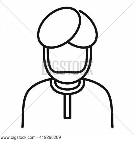 Arab Immigrant Icon. Outline Arab Immigrant Vector Icon For Web Design Isolated On White Background
