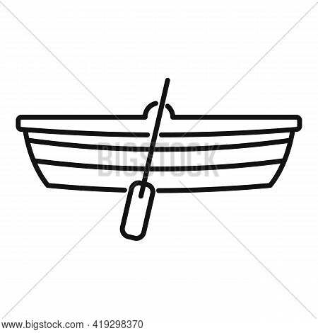 Immigrants Wood Boat Icon. Outline Immigrants Wood Boat Vector Icon For Web Design Isolated On White
