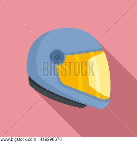 Skydiving Helmet Icon. Flat Illustration Of Skydiving Helmet Vector Icon For Web Design