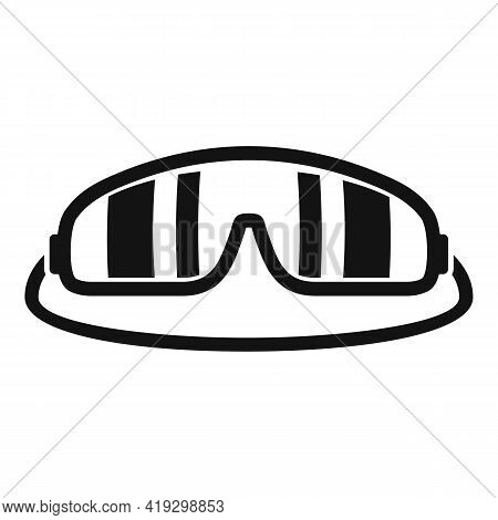Skydiver Glasses Icon. Simple Illustration Of Skydiver Glasses Vector Icon For Web Design Isolated O