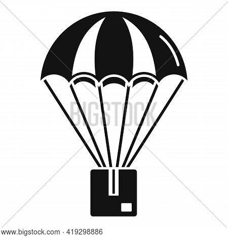 Parachuting Parcel Icon. Simple Illustration Of Parachuting Parcel Vector Icon For Web Design Isolat