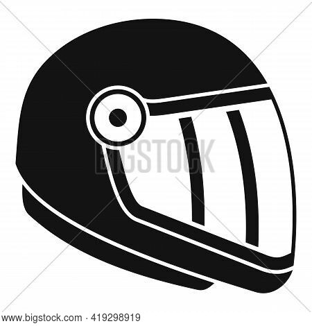 Skydiving Helmet Icon. Simple Illustration Of Skydiving Helmet Vector Icon For Web Design Isolated O