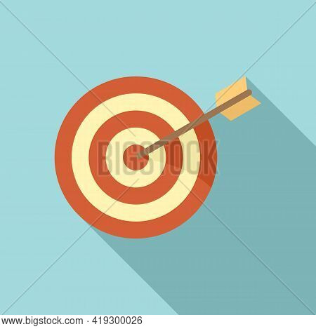 Archer Target Icon. Flat Illustration Of Archer Target Vector Icon For Web Design