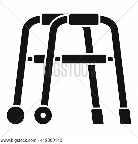 Senior Walker Icon. Simple Illustration Of Senior Walker Vector Icon For Web Design Isolated On Whit