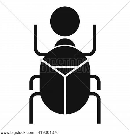 Africa Scarab Beetle Icon. Simple Illustration Of Africa Scarab Beetle Vector Icon For Web Design Is