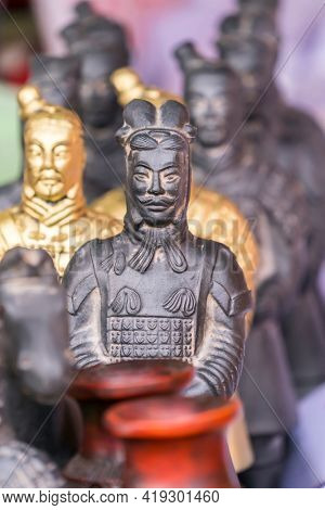 XI'AN, CHINA - March 21, 2018 The Terracotta Army souvenir in XIAN, CHINA