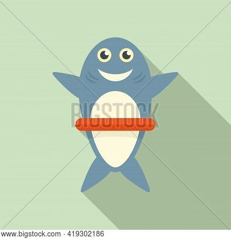 Shark Bath Toy Icon. Flat Illustration Of Shark Bath Toy Vector Icon For Web Design