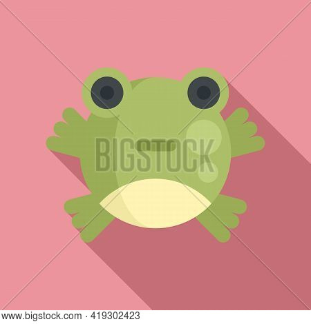 Cute Frog Toy Icon. Flat Illustration Of Cute Frog Toy Vector Icon For Web Design