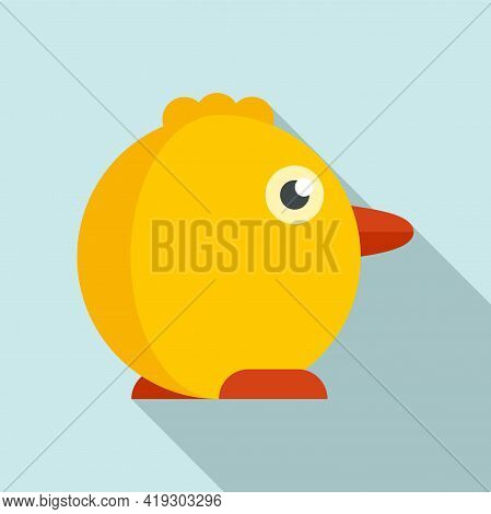 Chicken Baby Toy Icon. Flat Illustration Of Chicken Baby Toy Vector Icon For Web Design