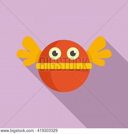 Fly Ball Toy Icon. Flat Illustration Of Fly Ball Toy Vector Icon For Web Design