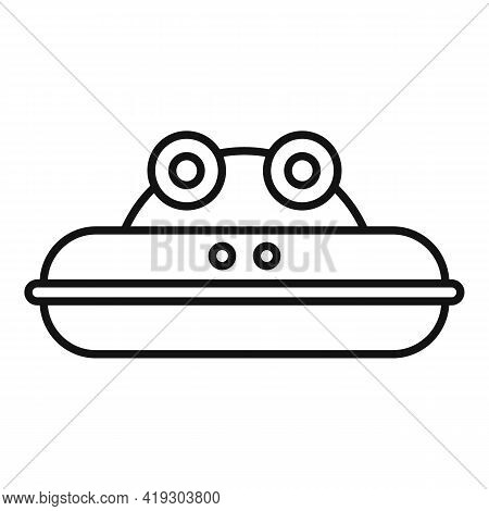 Frog Inflatable Ring Icon. Outline Frog Inflatable Ring Vector Icon For Web Design Isolated On White