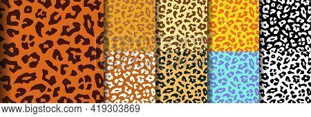 Seamless Leopard Pattern, Animal Print. Animal Seamless Pattern. Animals Fur. Leopard Skin Seamless