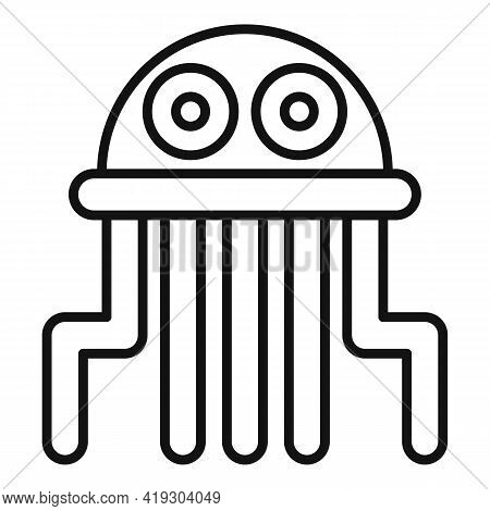 Jellyfish Toy Icon. Outline Jellyfish Toy Vector Icon For Web Design Isolated On White Background