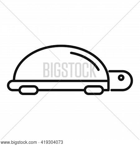 Turtle Toy Icon. Outline Turtle Toy Vector Icon For Web Design Isolated On White Background