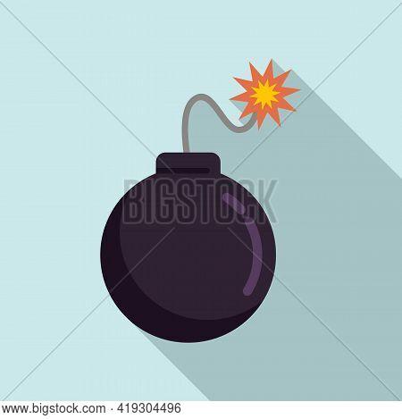 Teen Problems Bomb Icon. Flat Illustration Of Teen Problems Bomb Vector Icon For Web Design