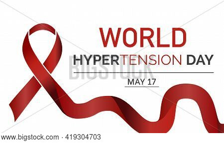 World Hypertension Day Health Prevention And Awareness Vector Concept Celebrated Annually On The 17T