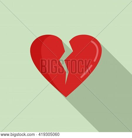 Teen Problems Heartbrake Icon. Flat Illustration Of Teen Problems Heartbrake Vector Icon For Web Des