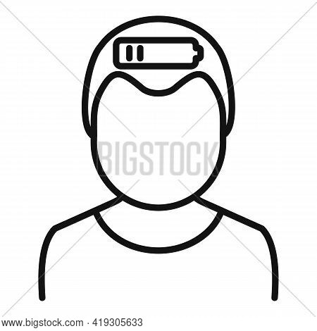 Low Energy Teen Icon. Outline Low Energy Teen Vector Icon For Web Design Isolated On White Backgroun