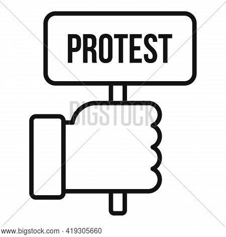 Protest Teen Protest Icon. Outline Protest Teen Protest Vector Icon For Web Design Isolated On White