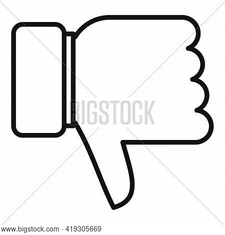 Teen Problem Thumb Down Icon. Outline Teen Problem Thumb Down Vector Icon For Web Design Isolated On