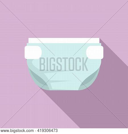 Comfortable Diaper Icon. Flat Illustration Of Comfortable Diaper Vector Icon For Web Design