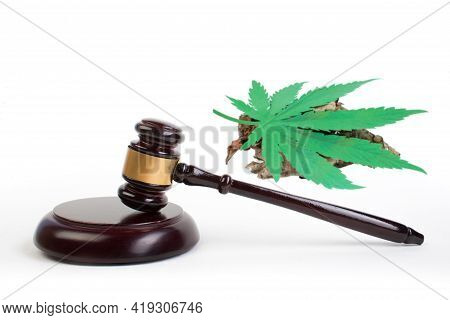 Legality Of Cannabis, Legal And Illegal Cannabis On The World. Law Concept.