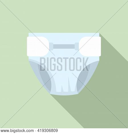 Soft Material Diaper Icon. Flat Illustration Of Soft Material Diaper Vector Icon For Web Design