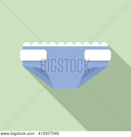 Protection Diaper Icon. Flat Illustration Of Protection Diaper Vector Icon For Web Design