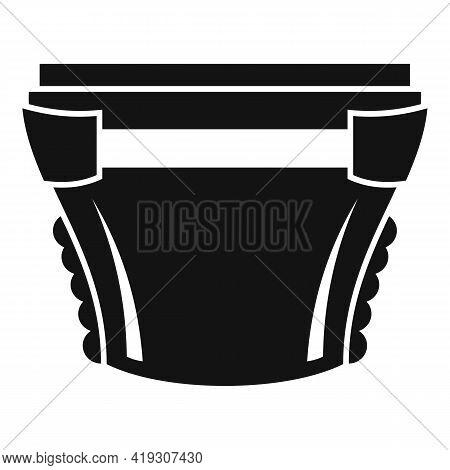 Comfortable Diaper Icon. Simple Illustration Of Comfortable Diaper Vector Icon For Web Design Isolat
