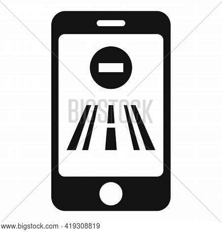 Driving School Smartphone Icon. Simple Illustration Of Driving School Smartphone Vector Icon For Web