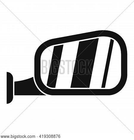 Car Door Mirror Icon. Simple Illustration Of Car Door Mirror Vector Icon For Web Design Isolated On