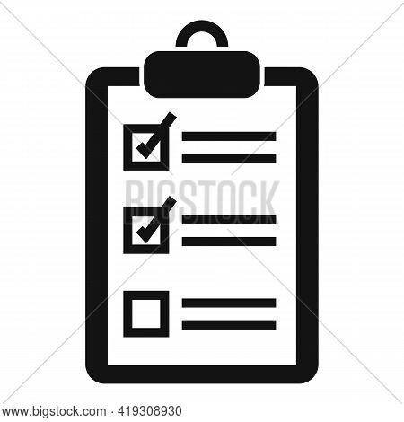 Driving School Clipboard Icon. Simple Illustration Of Driving School Clipboard Vector Icon For Web D