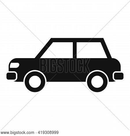 Sedan Car Icon. Simple Illustration Of Sedan Car Vector Icon For Web Design Isolated On White Backgr