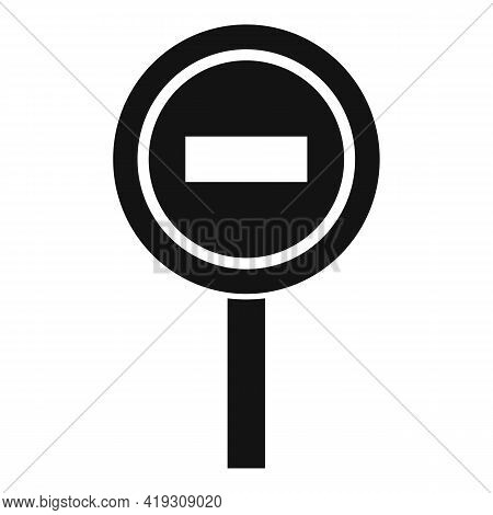 Access Denied Road Sign Icon. Simple Illustration Of Access Denied Road Sign Vector Icon For Web Des