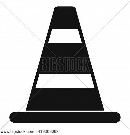 Road Cone Icon. Simple Illustration Of Road Cone Vector Icon For Web Design Isolated On White Backgr