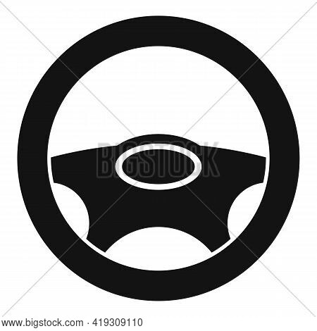 Steering Wheel Icon. Simple Illustration Of Steering Wheel Vector Icon For Web Design Isolated On Wh